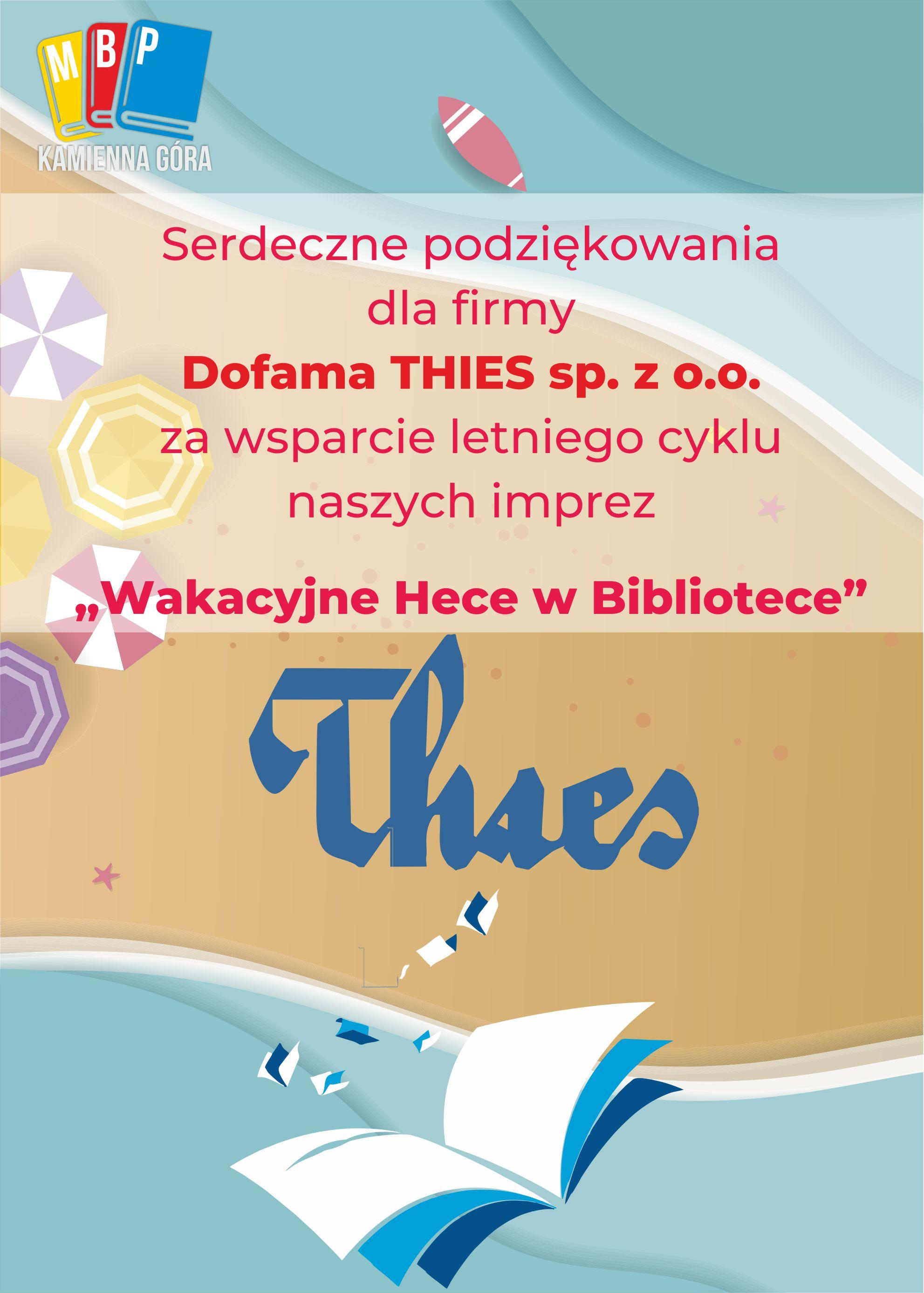 Podziękowania dla dofama thies