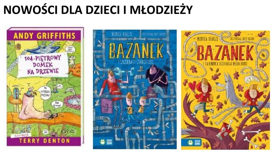 Nowości dla dzieci i młodzieży w naszej Bibliotece